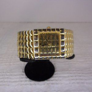 Joan Rivers Classics Quilted Gold Tone Wrist Watch